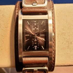 Leather Men's Guess Watch